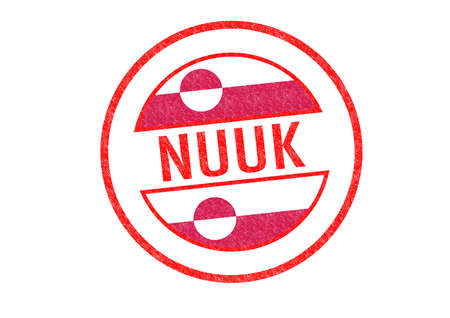 nuuk: Passport-style NUUK (capital of Greenland) rubber stamp over a white background. Stock Photo