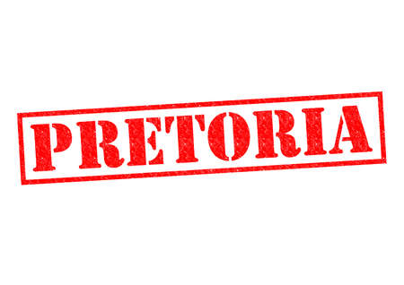 gauteng: PRETORIA (South Africa) Rubber Stamp over a white background.