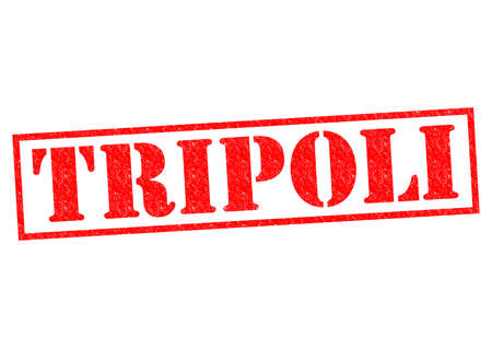 TRIPOLI (capital of Libya) Rubber stamp over a white background. photo