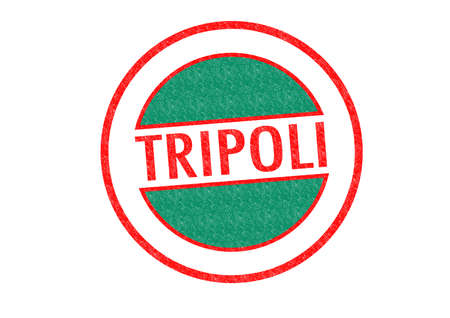 Passport-style TRIPOLI (Libya) rubber stamp over a white background. photo