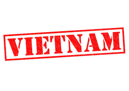 VIETNAM Rubber Stamp over a white background. photo