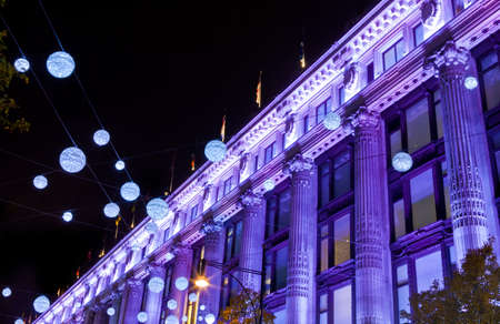 The London Christmas lights on Oxford Street.