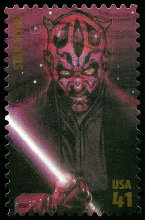 maul: UNITED STATES - CIRCA 2007: US Postage stamp depicting the Star Wars character Darth Maul, circa 2007. Editorial