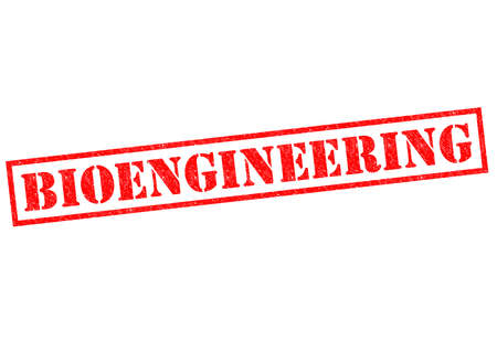 biophysics: BIOENGINEERING red Rubber Stamp over a white background.