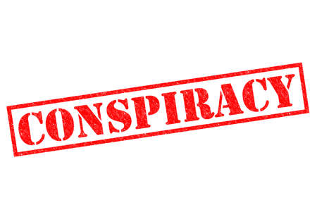 CONSPIRACY red Rubber Stamp over a white background. photo