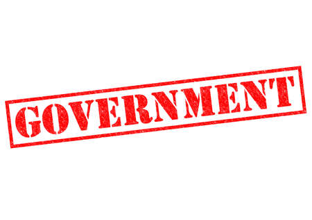 rightwing: GOVERNMENT red Rubber Stamp over a white background.