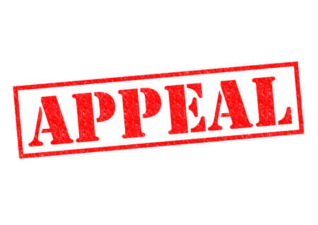appeal: APPEAL red Rubber Stamp over a white background.