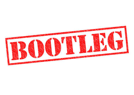 unofficial: BOOTLEG red Rubber Stamp over a white background. Stock Photo