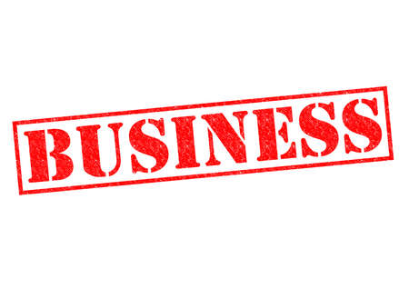 BUSINESS red Rubber Stamp over a white background. photo