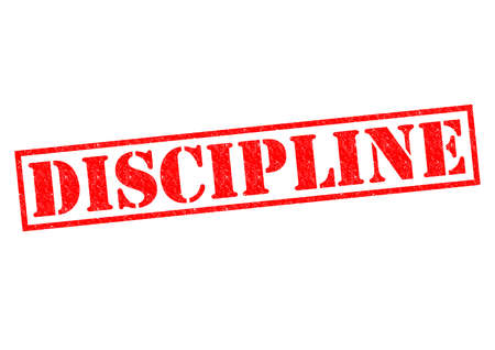 DISCIPLINE red Rubber Stamp over a white background. photo
