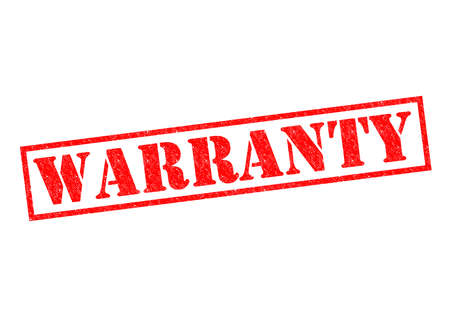 WARRANTY red Rubber Stamp over a white background.