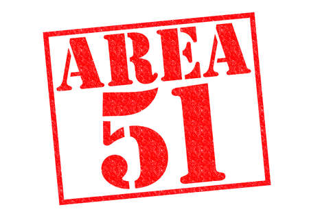 51: AREA 51 red Rubber Stamp over a white background. Stock Photo
