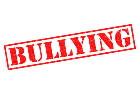 ruffian: BULLYING red Rubber Stamp over a white background.