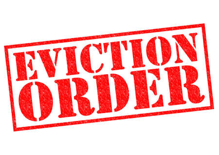 EVICTION ORDER red Rubber Stamp over a white background. photo