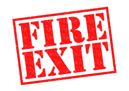 FIRE EXIT red Rubber Stamp over a white background. Stock Photo - 26101381