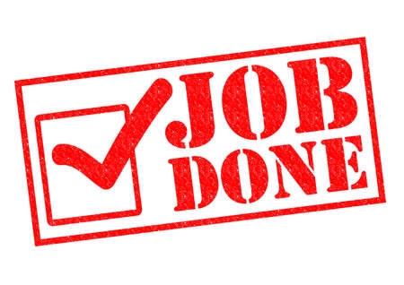 JOB DONE red Rubber Stamp over a white background. Stock Photo - 26101409