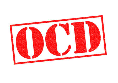 ocd: OCD red Rubber Stamp over a white background. Stock Photo