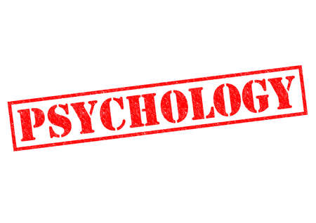 behaviorism: PSYCHOLOGY red Rubber Stamp over a white background.