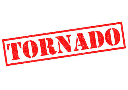 TORNADO red Rubber Stamp over a white background. photo