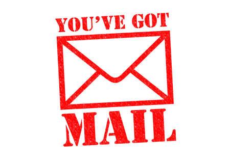 U hebt post rood Rubber Stamp over een witte achtergrond. Stockfoto - 26101469