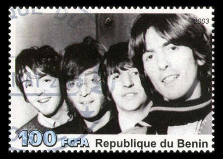 REPUBLIQUE DU BENIN - CIRCA 2003: A postage stamp portraying an image of The Beatles, circa 2003. Editorial