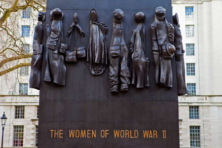 world war two: The Monument to the Women of World War Two in Whitehall, London. Editorial