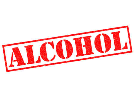 intoxicant: ALCOHOL red Rubber Stamp over a white background.