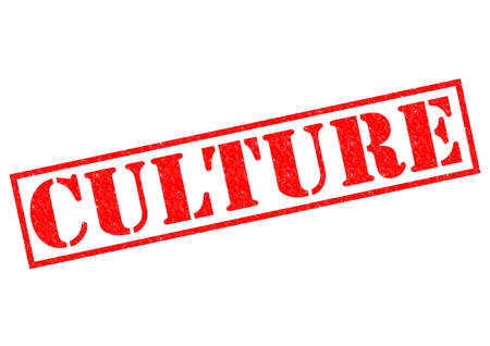 CULTURE red Rubber Stamp over a white background. photo