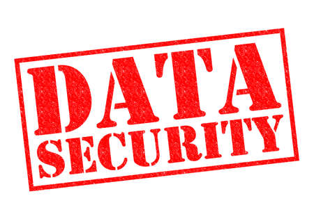 criminal act: DATA SECURITY red Rubber Stamp over a white background.
