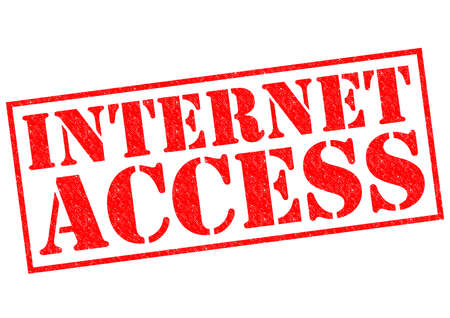 INTERNET ACCESS red Rubber Stamp over a white background. photo