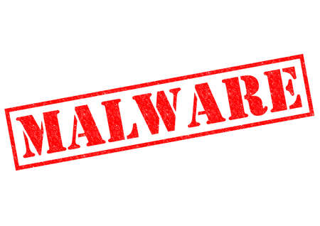 malware: MALWARE red Rubber Stamp over a white background.