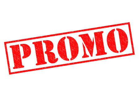 promoter: PROMO red Rubber Stamp over a white background.