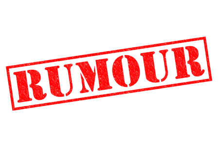 RUMOUR red Rubber Stamp over a white background. photo