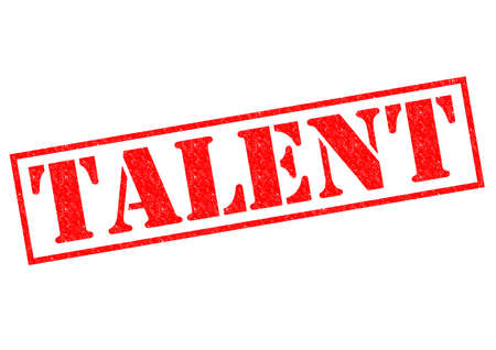 TALENT red Rubber Stamp over a white background. Stock Photo - 26453637