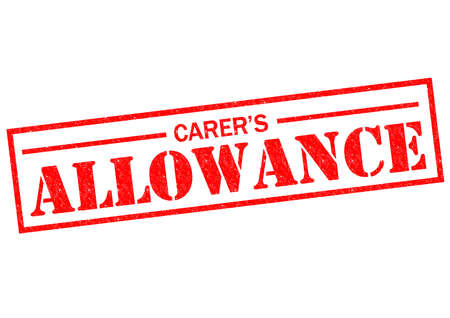 nursing allowance: CARERS ALLOWANCE red Rubber Stamp over a white background.