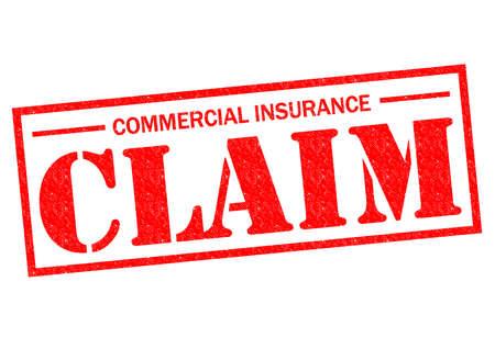 COMERCIAL reclamación de seguro de goma de color rojo sello sobre un fondo blanco. Foto de archivo - 26453602