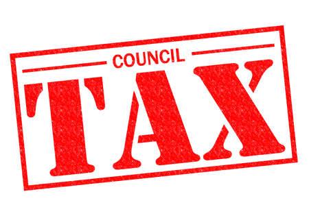 理事会税赤いスタンプ、白い背景の上。 写真素材