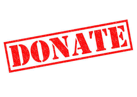 DONATE red Rubber Stamp over a white background. photo