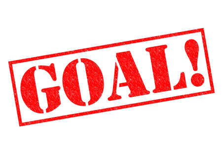 GOAL! red Rubber Stamp over a whitew background. photo