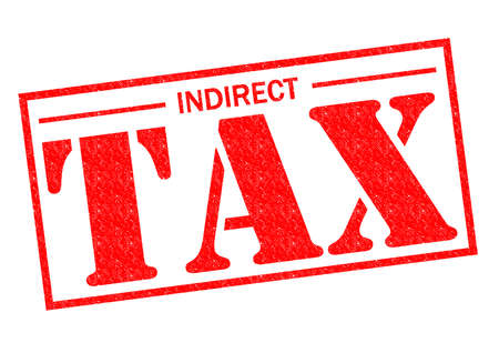 indirect: INDIRECT TAX red Rubber Stamp over a white background.
