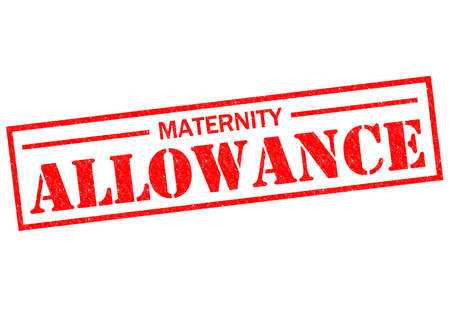 MATERNITY ALLOWANCE red Rubber Stamp over a white background. photo