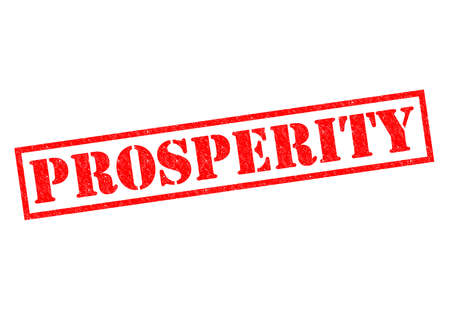 PROSPERITY red Rubber Stamp over a white background.