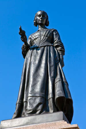 Statue of the famous nurse Florence Nightingale in London  新聞圖片