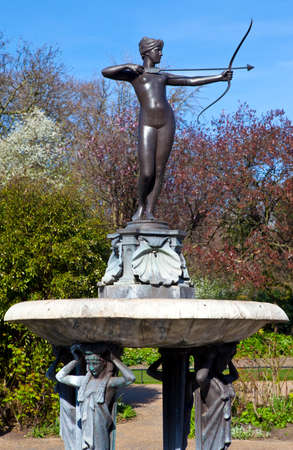 The beautiful sculpture of the Artemis Fountain in Hyde Park, London. photo
