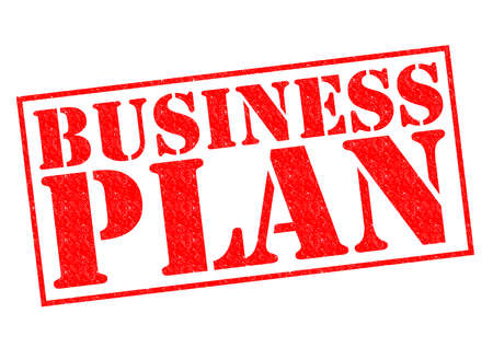 BUSINESS PLAN red Rubber Stamp over a white background. photo