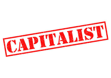 capitalist: CAPITALIST red Rubber Stamp over a white .