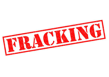 fracking: FRACKING red Rubber Stamp over a white background. Stock Photo
