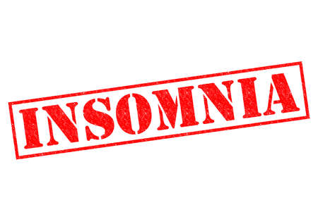 INSOMNIA red Rubber Stamp over a white background. Stock fotó