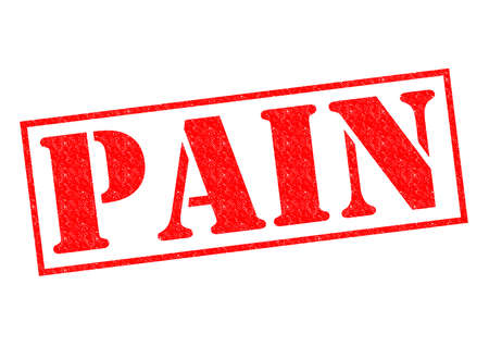 paracetamol: PAIN red Rubber Stamp over a white background.