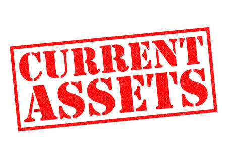 liquidity: CURRENT ASSETS red Rubber Stamp over a white background.